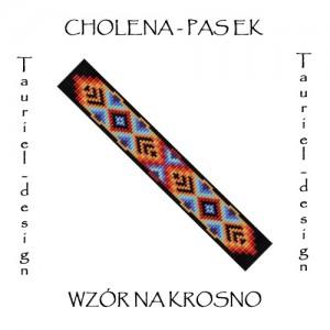 Wzór na krosno - Pasek - Naszyjnik - Cholena