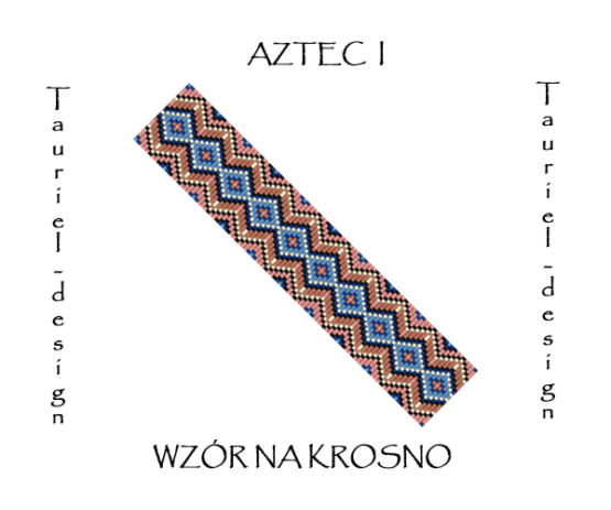 Wzór na krosno - Bransoleta - Aztec I