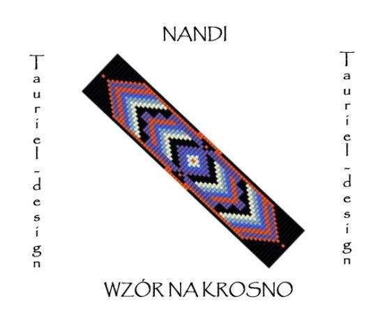 Wzór na krosno - Bransoleta - Nandi