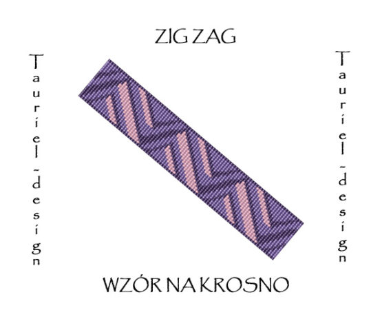 Wzór na krosno - Bransoleta - Zig Zag