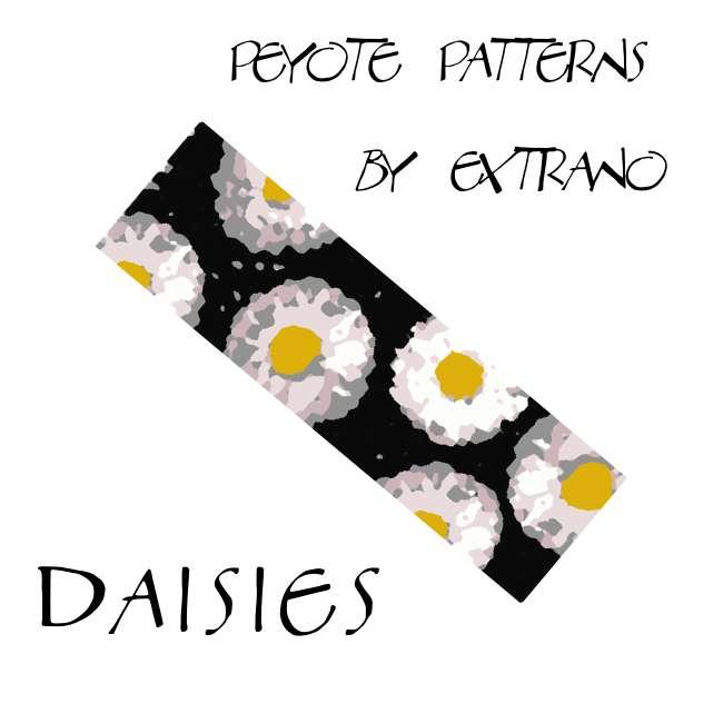 Wzór peyote - Bransoleta - Daisies