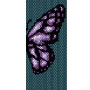 Wzór peyote - Bransoleta - Fioletowy Motyl