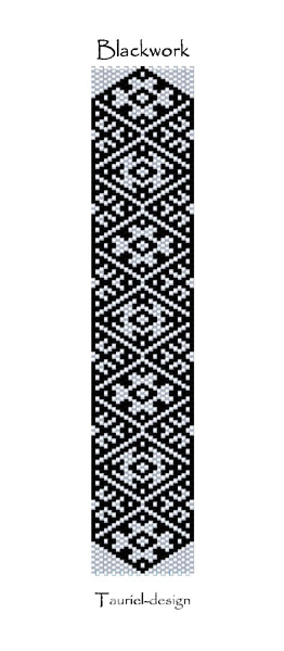 Wzór peyote - Bransoleta - Blackwork