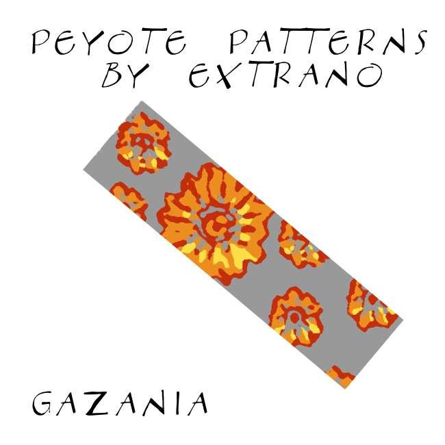 Wzór peyote - Bransoleta - GAZANIA