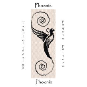 Wzór peyote - Bransoleta - Feniks