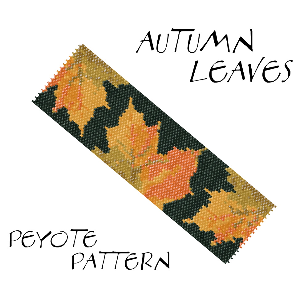 Wzór peyote - Bransoleta - AUTUMN LEAVES