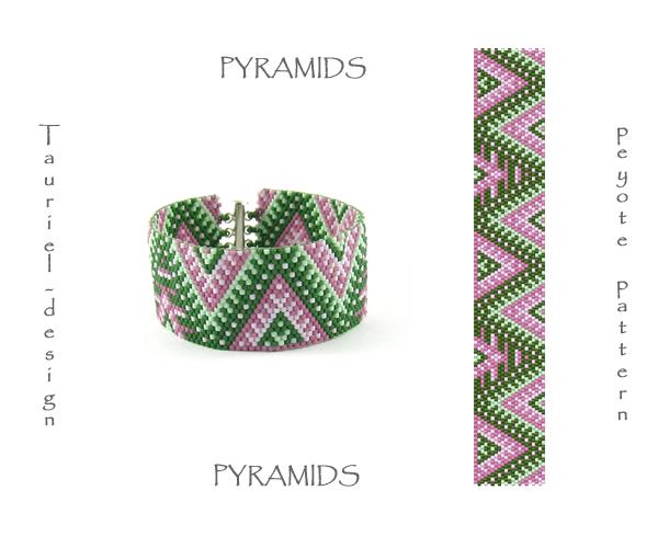 Wzór peyote - Bransoleta - Piramidy