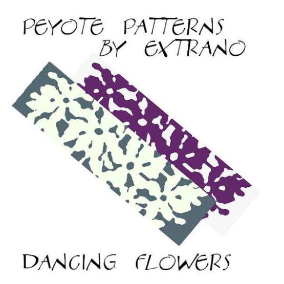 Wzór peyote - Bransoleta - Dancing Flowers