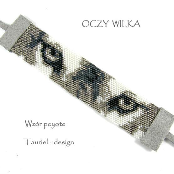 Wzór peyote - Bransoleta - Oczy Wilka