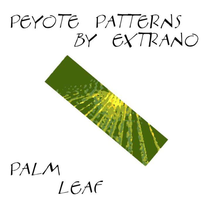 Wzór peyote - Bransoleta - PALM LEAF