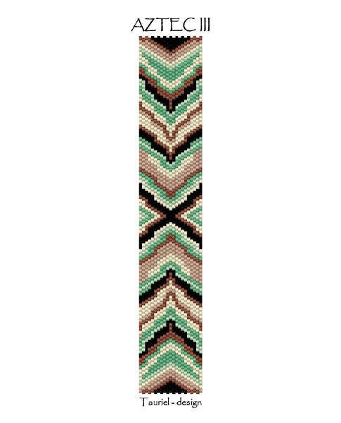 Wzór peyote - Bransoleta - Aztec III