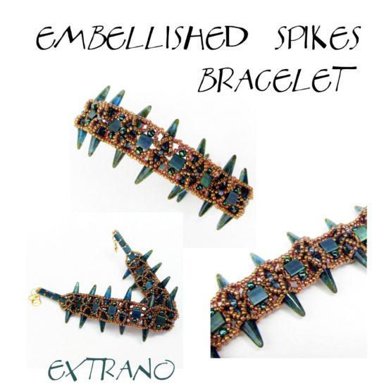 Instrukcja - Bransoletka - EMBELLISHED SPIKES
