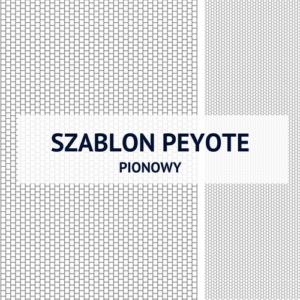 Szablon pionowy do ściegu peyote