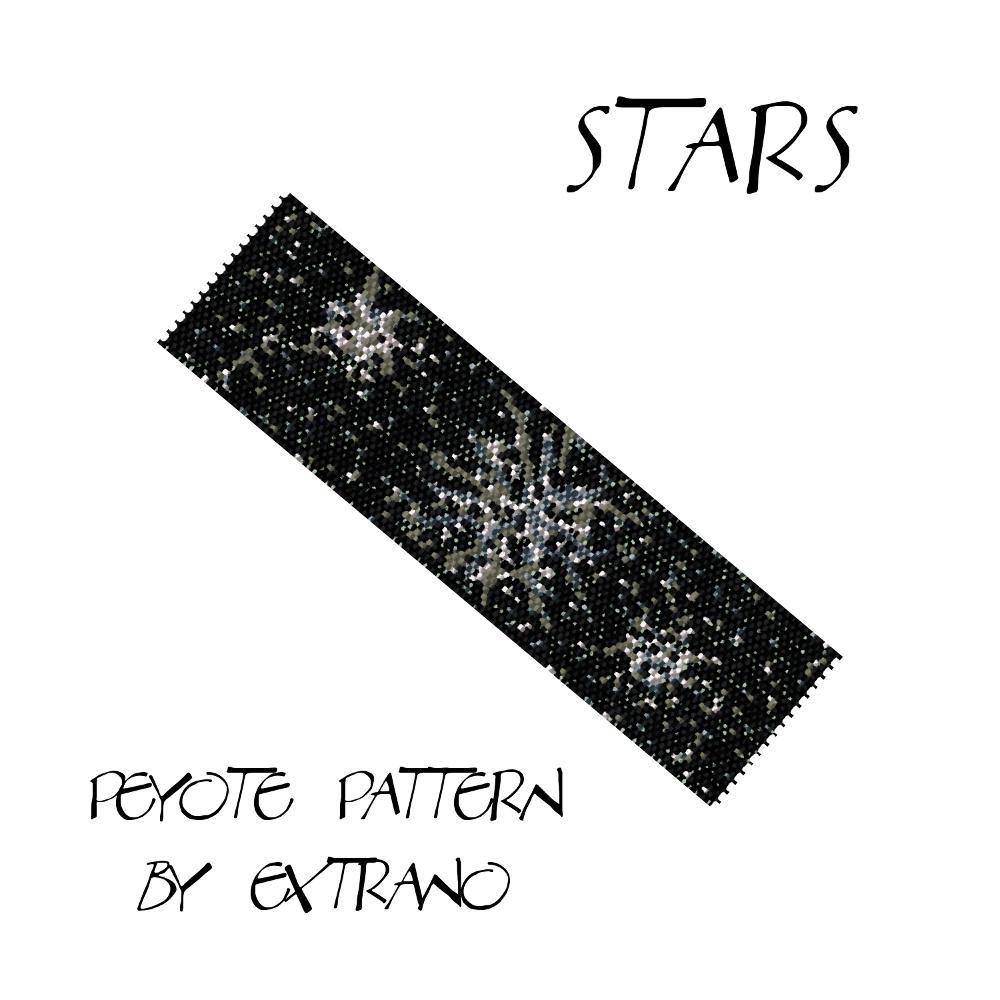 Wzór peyote - STARS