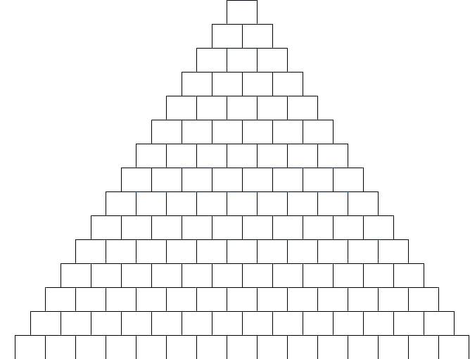 Szablon brick - trójkąt