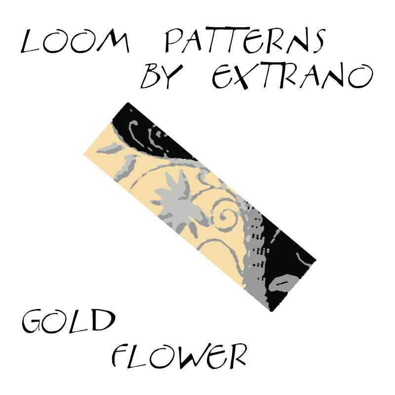 Wzór na krosno - Gold FLower