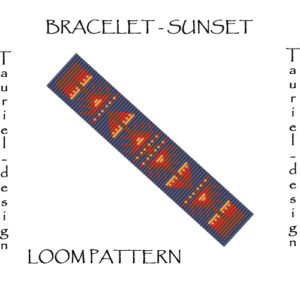 Wzór na krosno - bransoleta - SUNSET